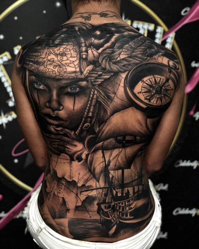 54 10 - 100 Magnifiques Tatouages Dos pour Femme