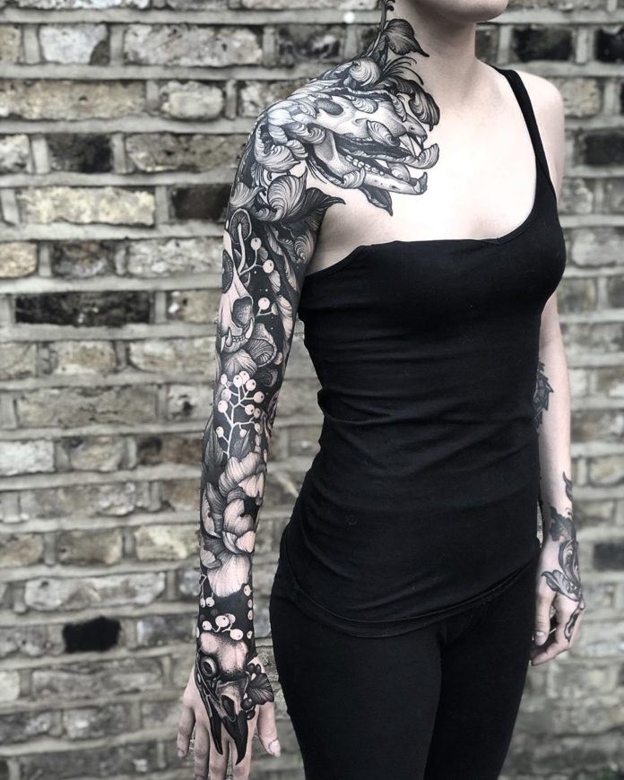 55 11 - Top 100 Tatouages Bras Complet pour Femme