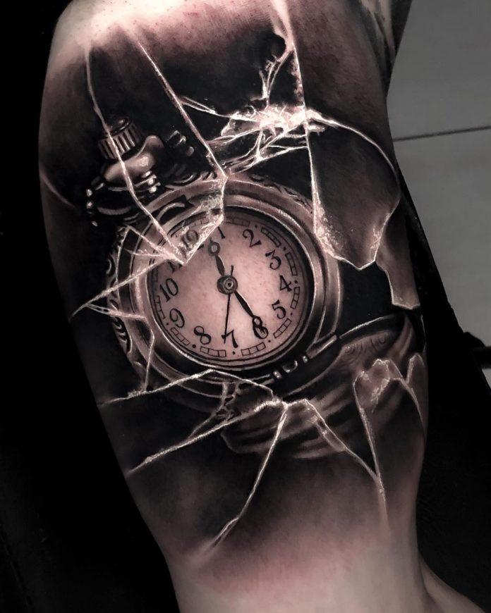 58468583 455862075161243 6759304520536862278 n - 100 Tatouages d'Horloge pour Homme
