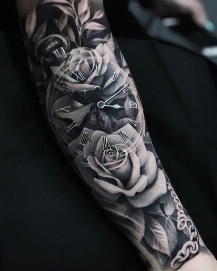 tatouage etoile homme collier