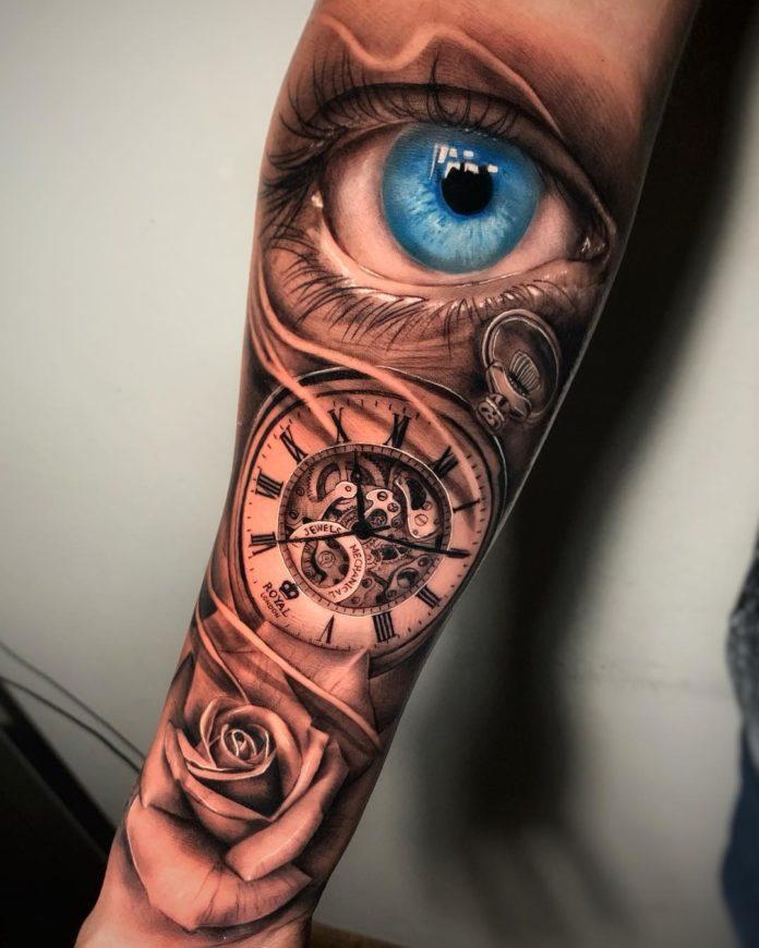 58721827 497440404127251 7690959029263826140 n - 100 Tatouages d'Horloge pour Homme