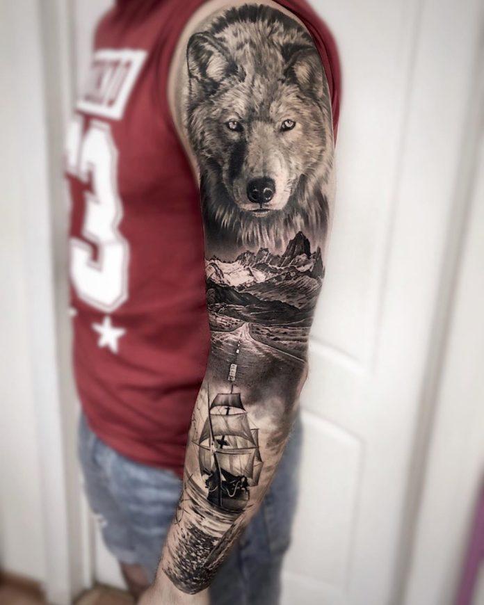 59 8 - 150 Tatouages Bras Complet pour Homme