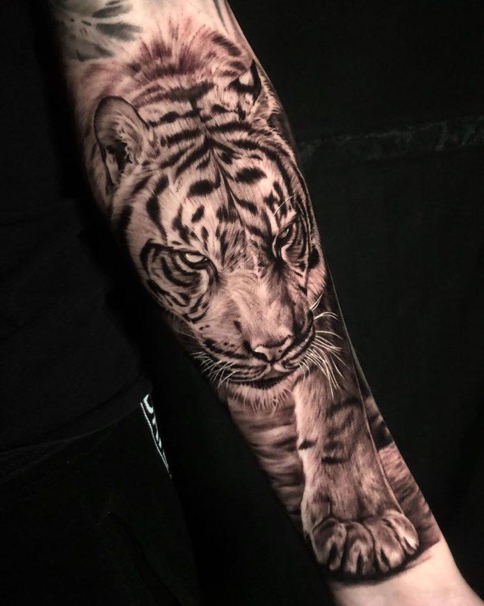 6 - Top 100 Tatouages Tigre pour Homme