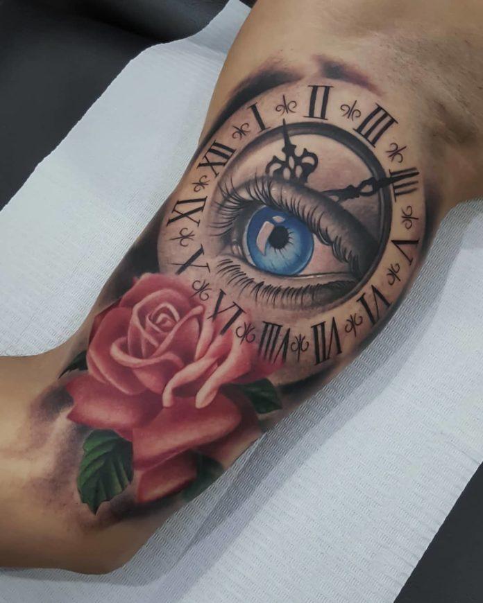 60801070 2426224487397354 7107479294711437128 n - 100 Tatouages d'Horloge pour Homme