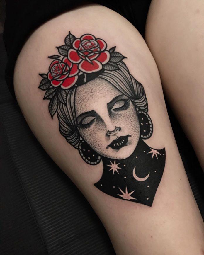 61 8 - Top 100 Tatouages Cuisse pour Femme