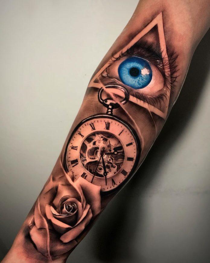 61222189 299636894247218 8169194712660148959 n - 100 Tatouages d'Horloge pour Homme