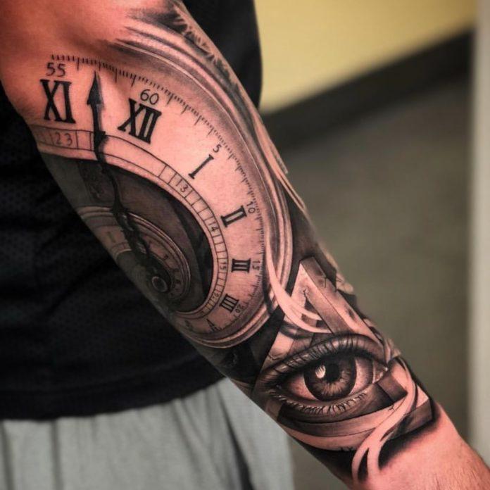 61910848 676791732761180 8424250165539870209 n - 100 Tatouages d'Horloge pour Homme
