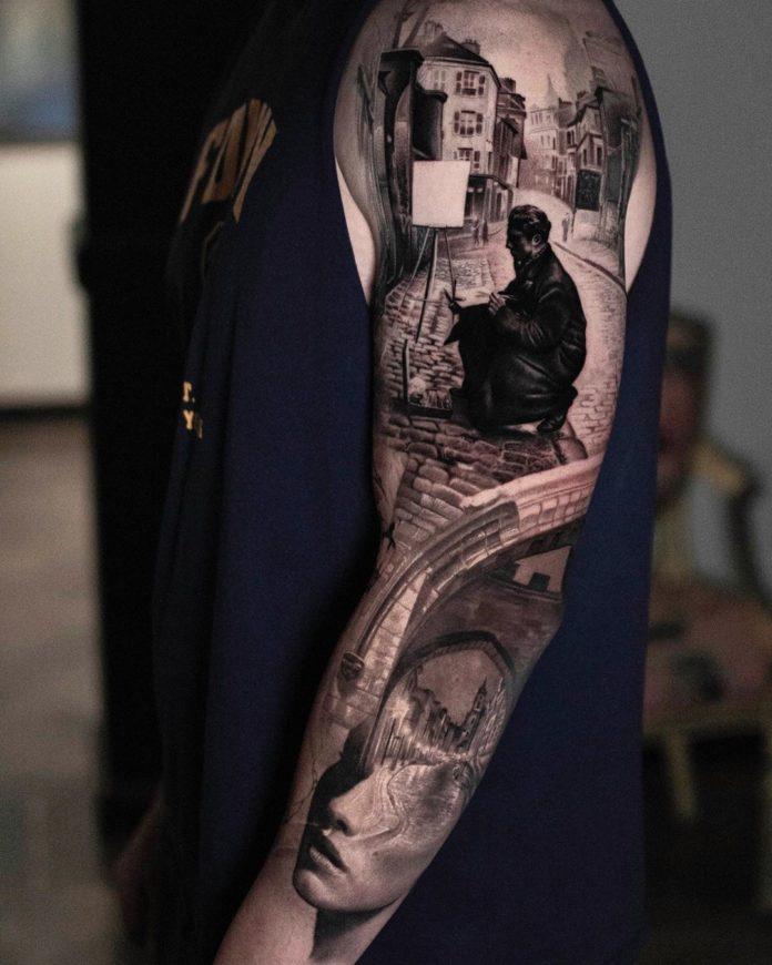 65 8 - 150 Tatouages Bras Complet pour Homme