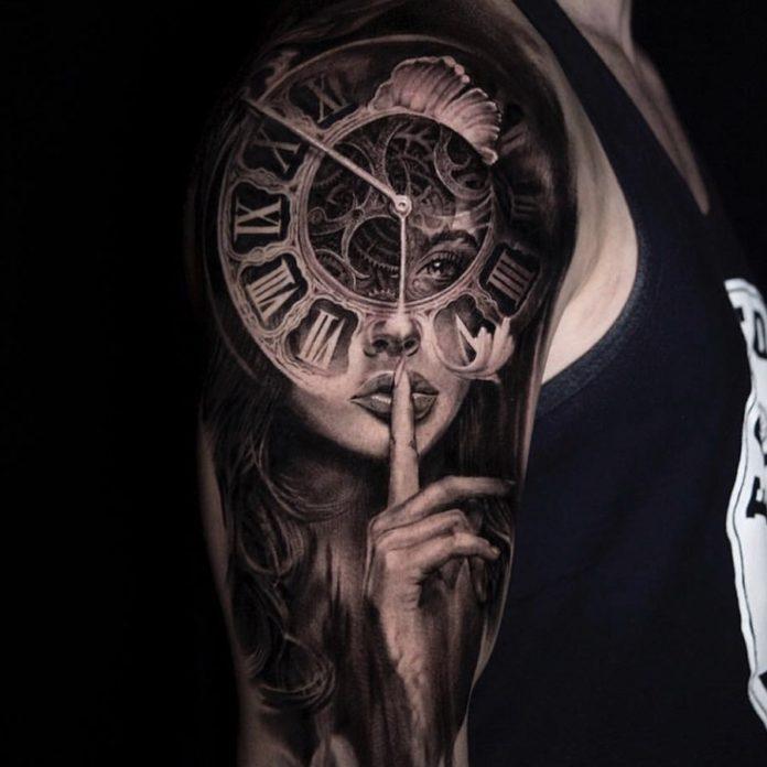 65487689 347215425949304 8198041748731085327 n - 100 Tatouages d'Horloge pour Homme