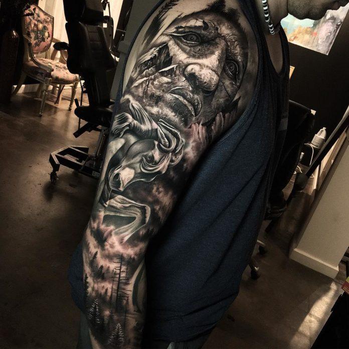 67 7 - 150 Tatouages Bras Complet pour Homme