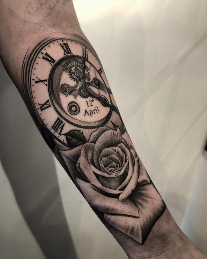 69 - 100 Tatouages d'Horloge pour Homme