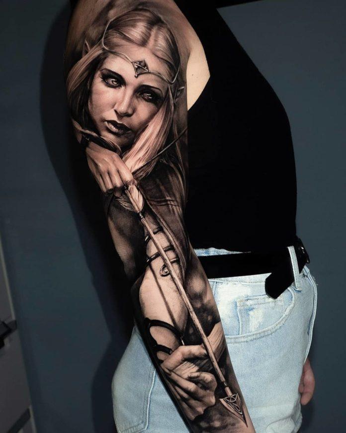7 10 - Top 100 Tatouages Bras Complet pour Femme