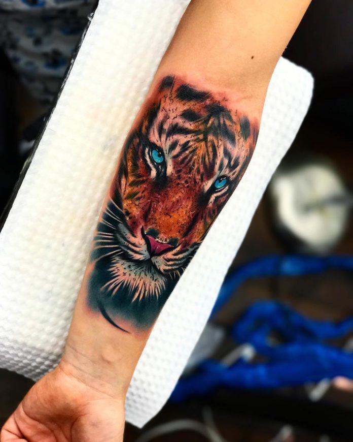 76 1 - Top 100 Tatouages Tigre pour Homme