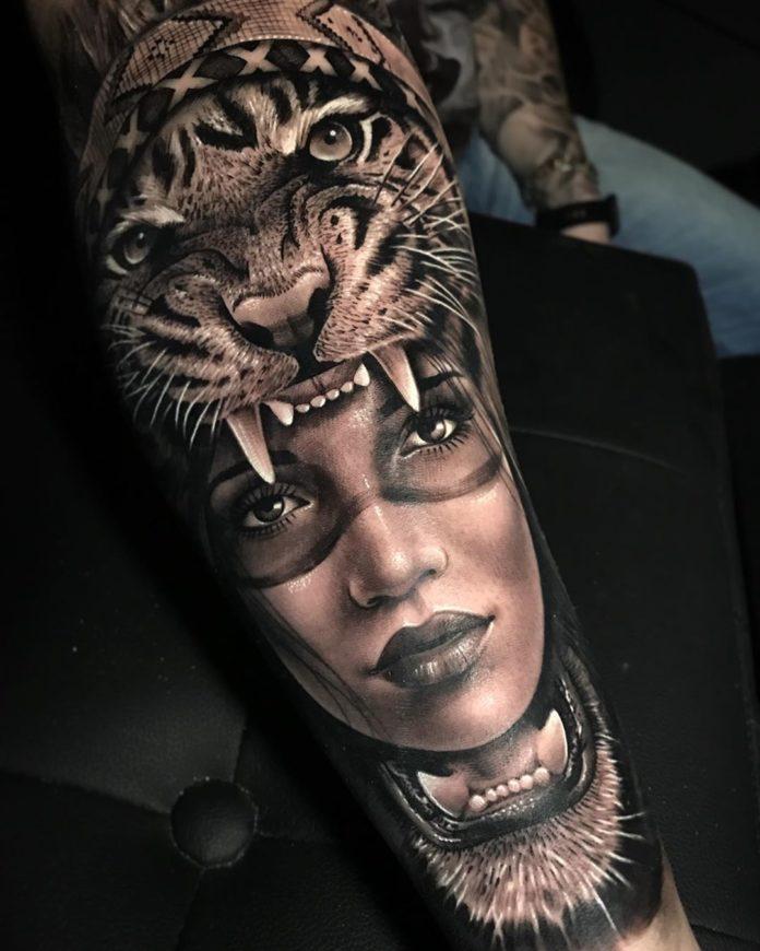 8 - Top 100 Tatouages Tigre pour Homme