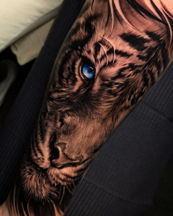 80 1 - Top 100 Tatouages Tigre pour Homme