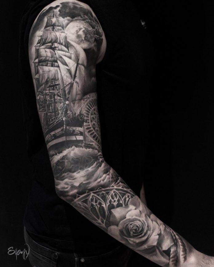 80 9 - 150 Tatouages Bras Complet pour Homme