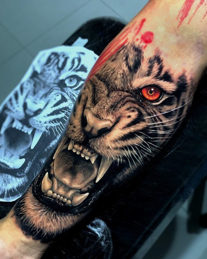 81 1 - Top 100 Tatouages Tigre pour Homme
