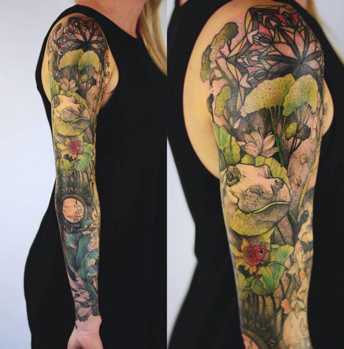 81 12 - Top 100 Tatouages Bras Complet pour Femme