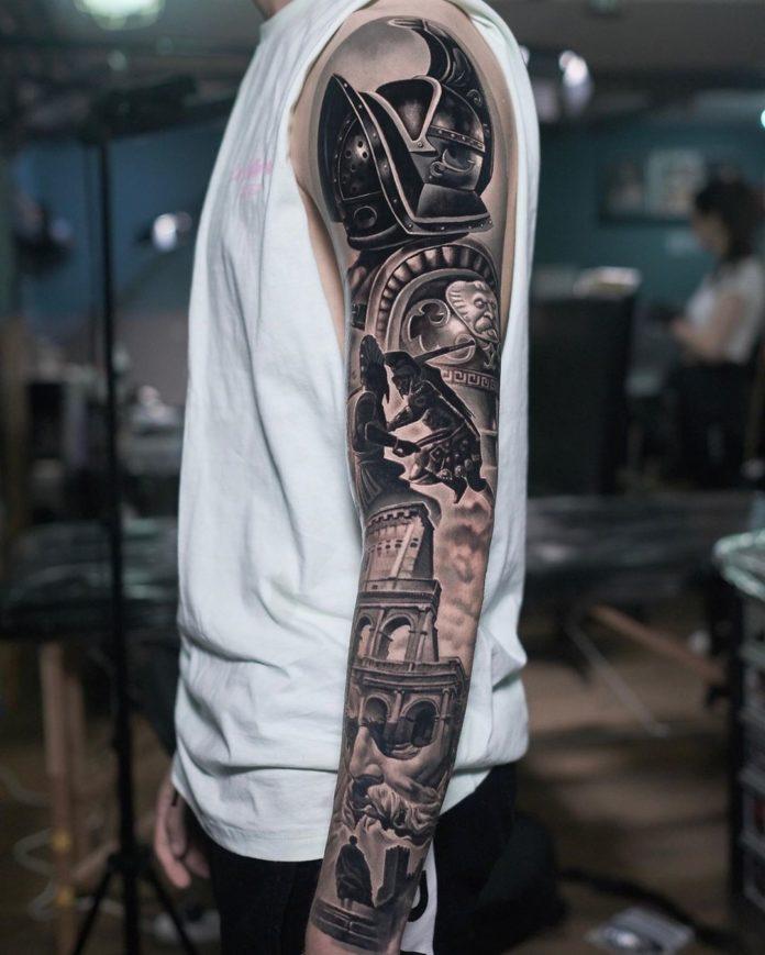 82 8 - 150 Tatouages Bras Complet pour Homme