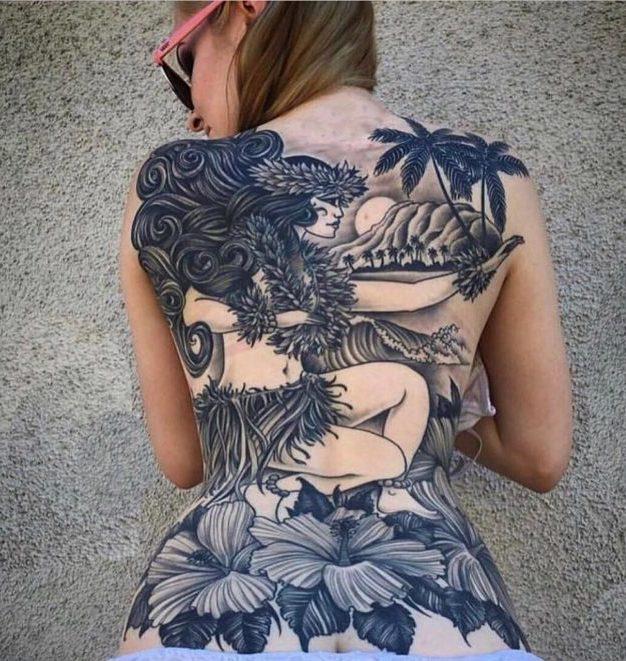 83 10 e1576850493956 - 100 Magnifiques Tatouages Dos pour Femme
