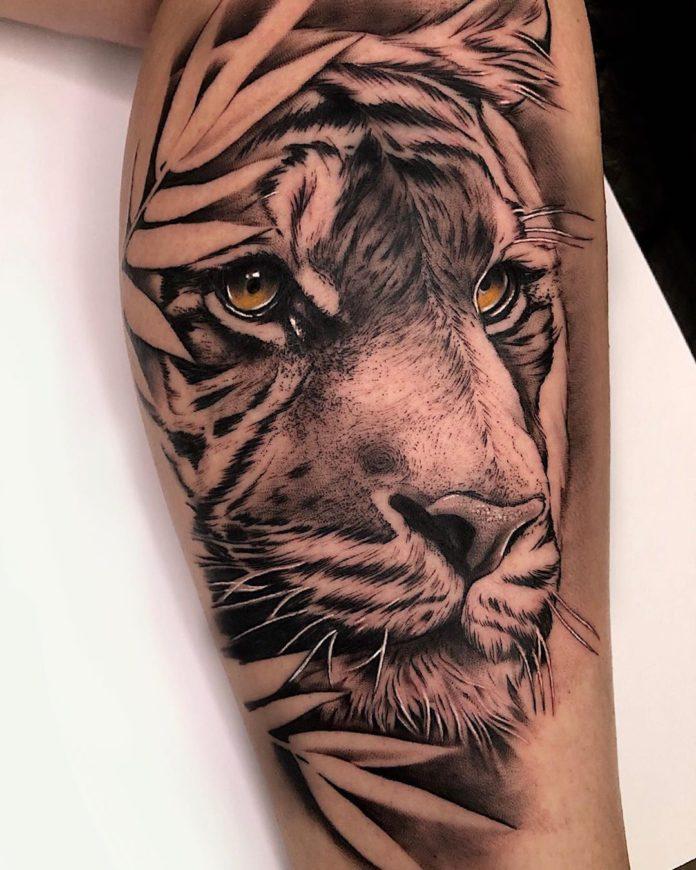 84 1 - Top 100 Tatouages Tigre pour Homme