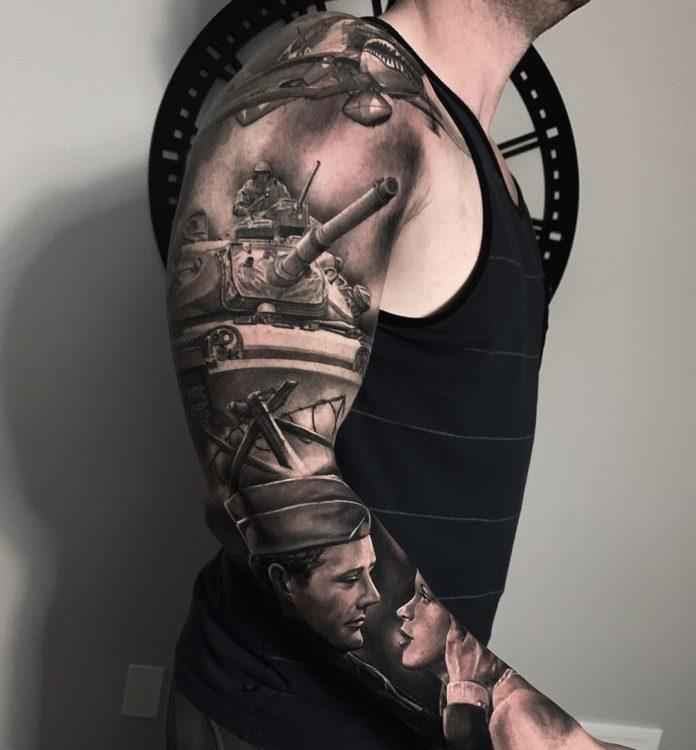 86 8 - 150 Tatouages Bras Complet pour Homme