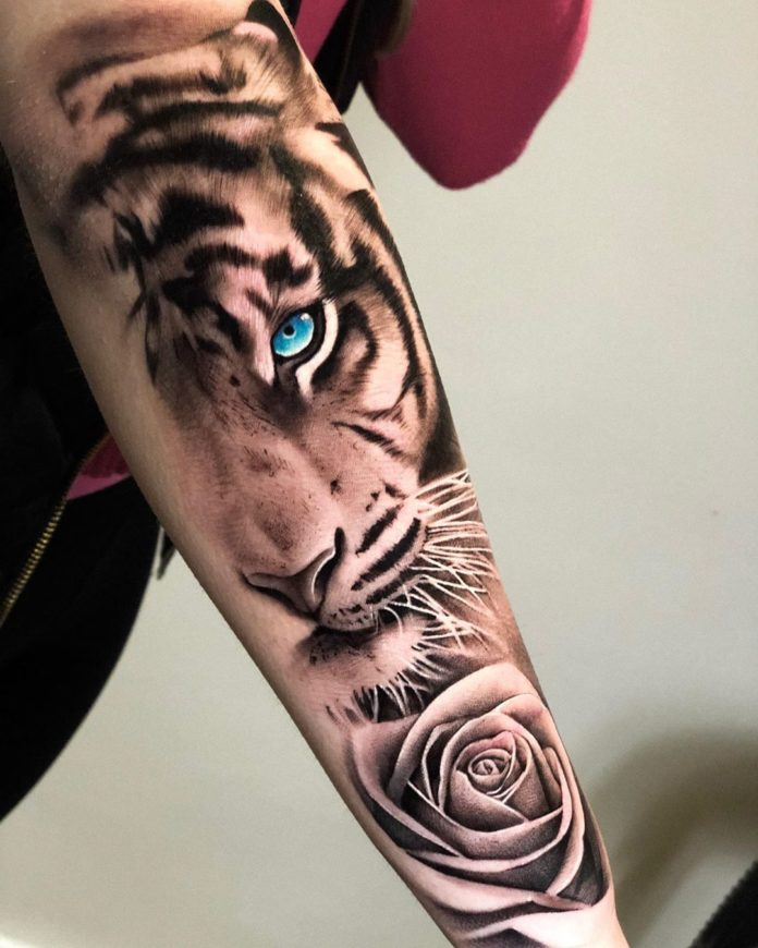 90 1 - Top 100 Tatouages Tigre pour Homme