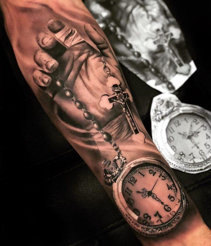90 - 100 Tatouages d'Horloge pour Homme
