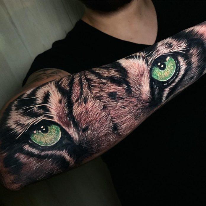 91 1 - Top 100 Tatouages Tigre pour Homme