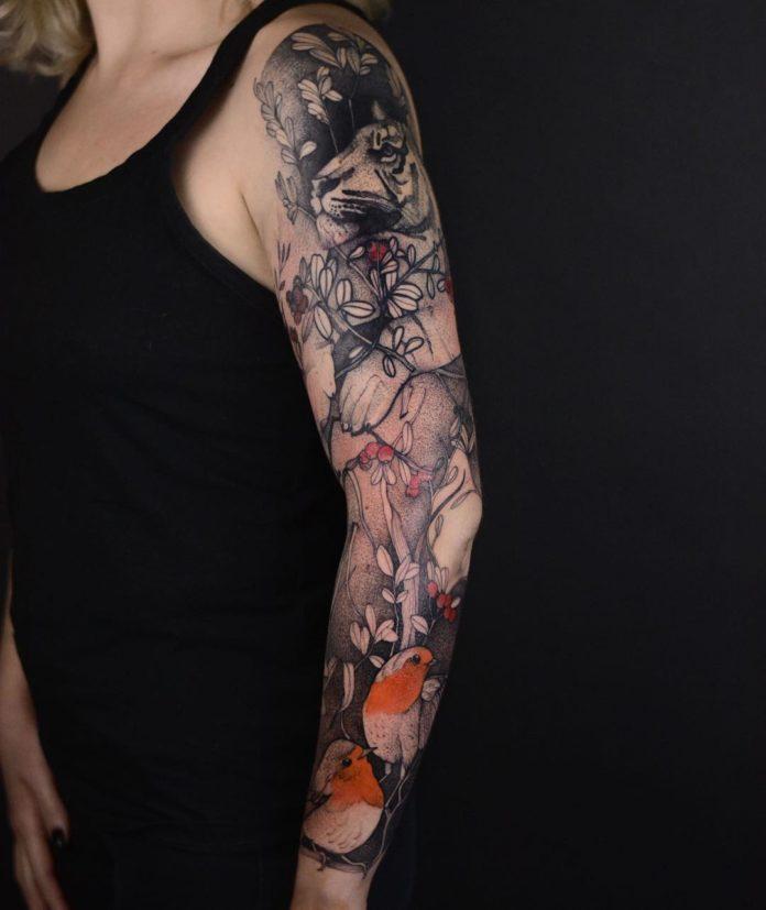 91 11 - Top 100 Tatouages Bras Complet pour Femme