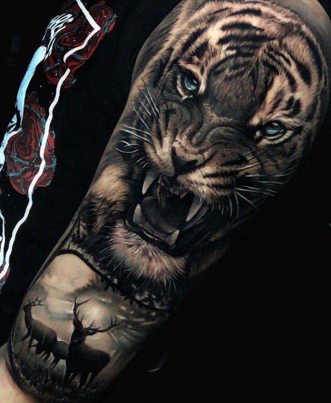 92 1 e1571781704307 - Top 100 Tatouages Tigre pour Homme