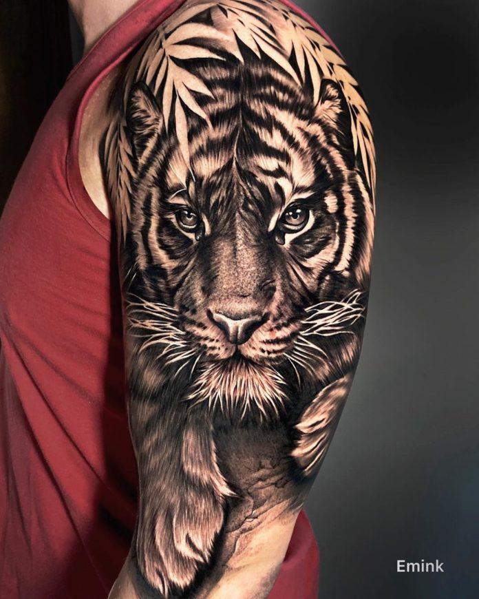 93 1 - Top 100 Tatouages Tigre pour Homme