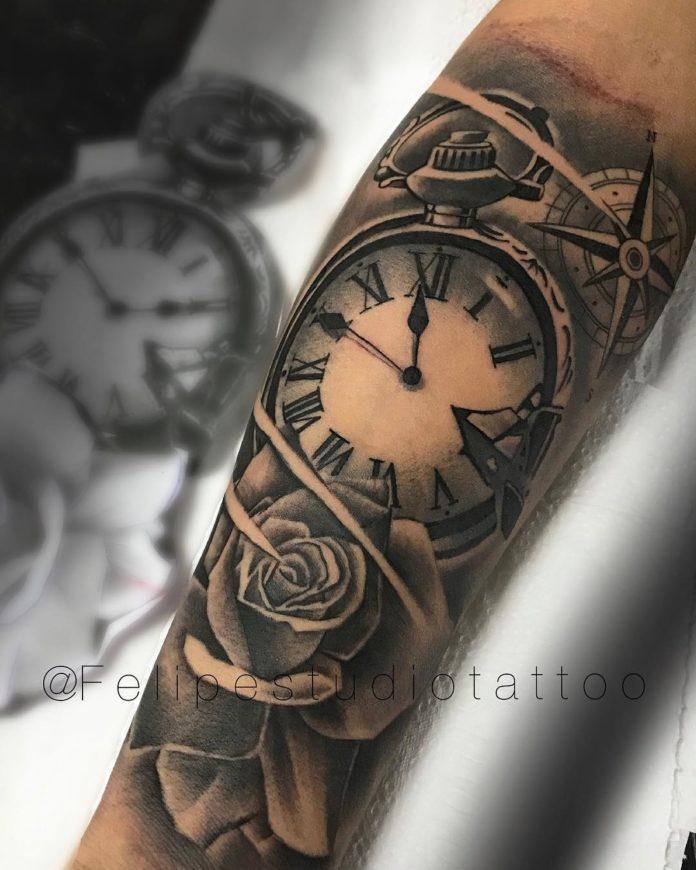 94 - 100 Tatouages d'Horloge pour Homme