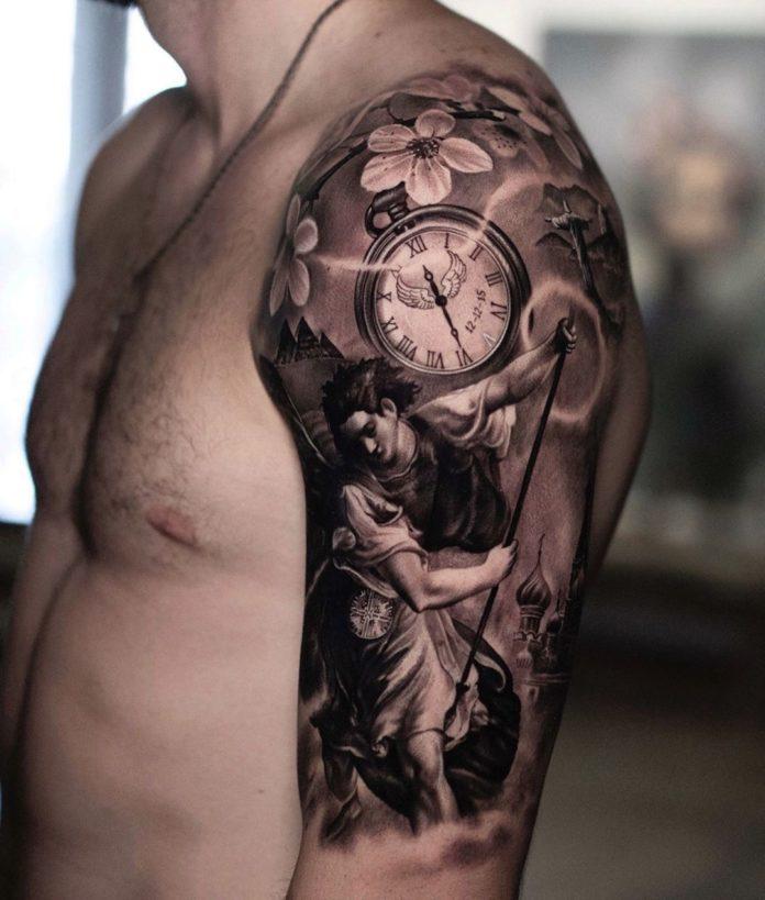 tatouage collier cou homme