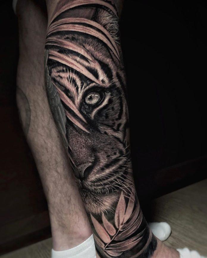 97 1 - Top 100 Tatouages Tigre pour Homme