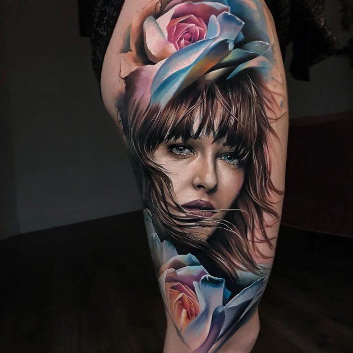 98 9 - Top 100 Tatouages Cuisse pour Femme