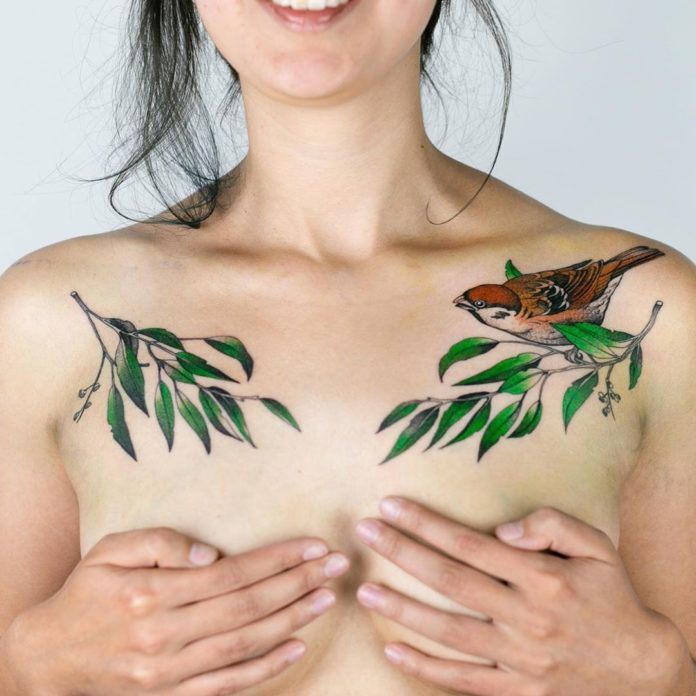 1 5 - 100 Tatouages Poitrine pour Femme