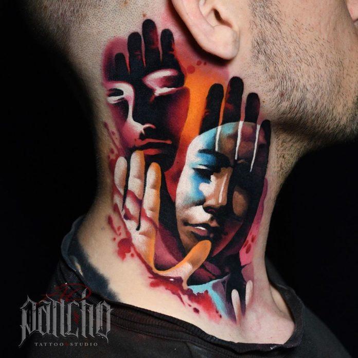 10 6 - Tatouage Cou pour Homme (100 photos)