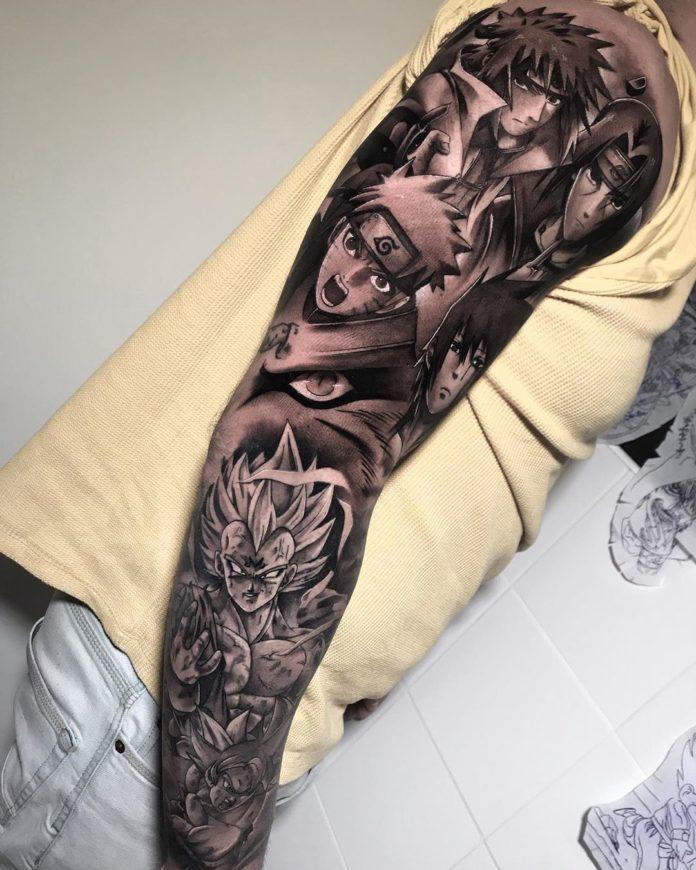105 - 150 Tatouages Bras Complet pour Homme