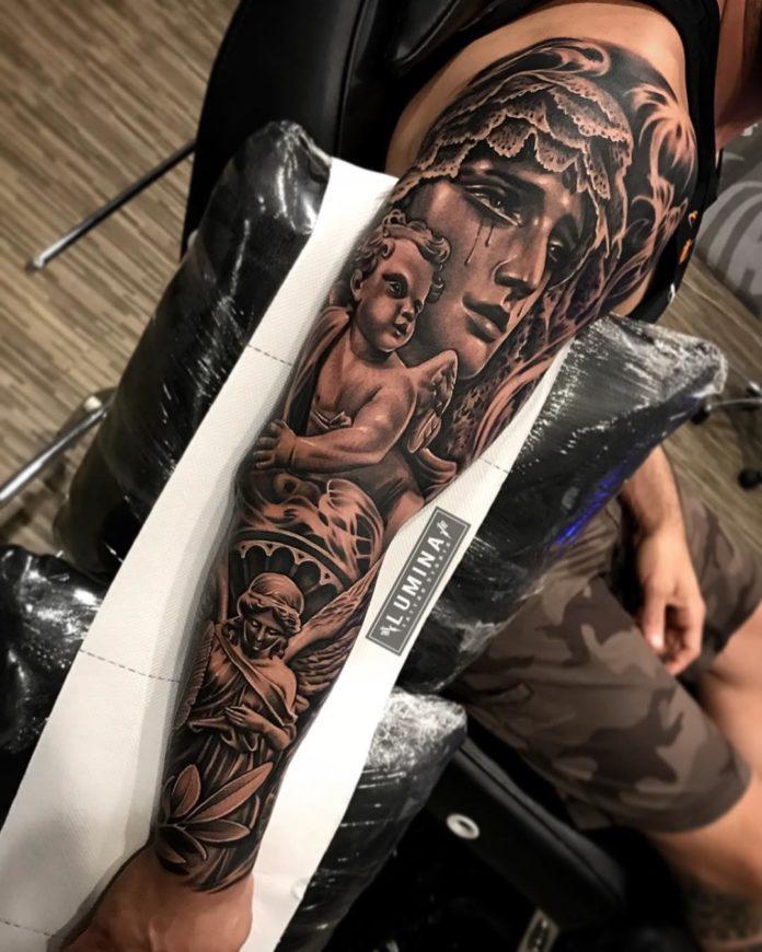 109 - 150 Tatouages Bras Complet pour Homme