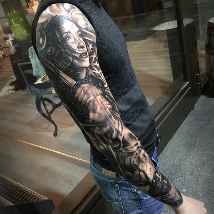 132 - 150 Tatouages Bras Complet pour Homme