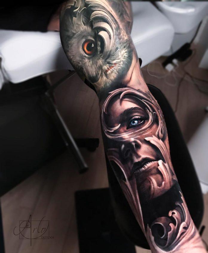 135 - 150 Tatouages Bras Complet pour Homme