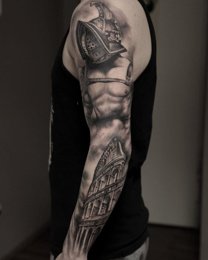 138 - 150 Tatouages Bras Complet pour Homme