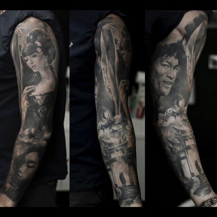 141 - 150 Tatouages Bras Complet pour Homme