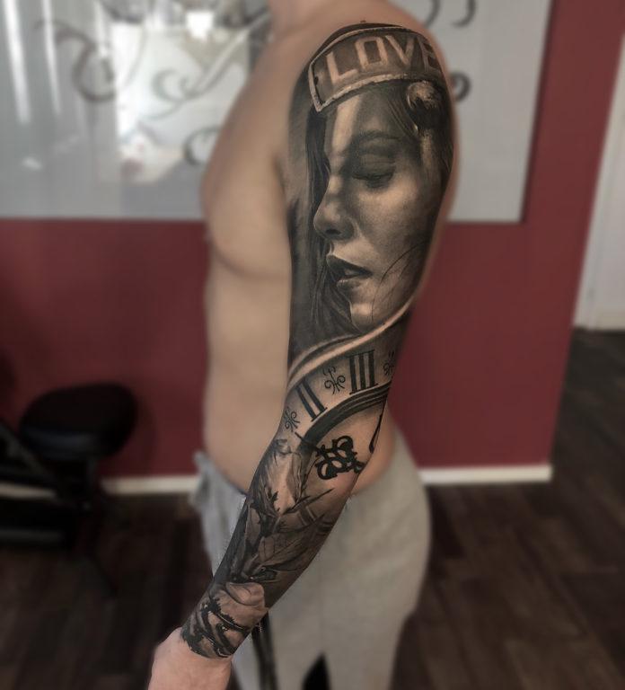 143 - 150 Tatouages Bras Complet pour Homme