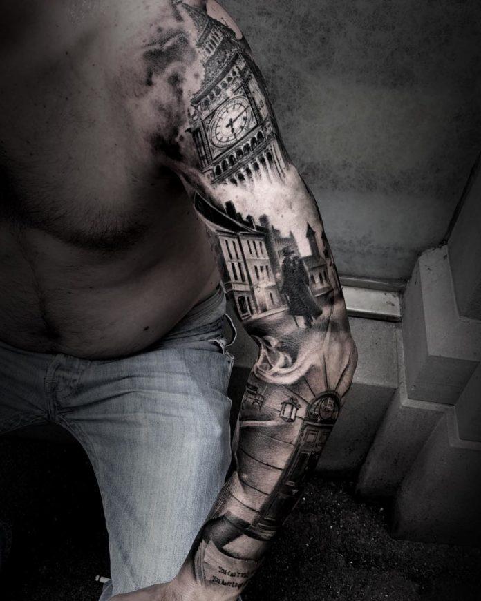 145 - 150 Tatouages Bras Complet pour Homme