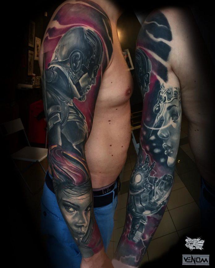 148 - 150 Tatouages Bras Complet pour Homme