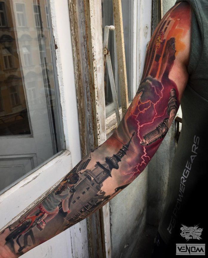149 - 150 Tatouages Bras Complet pour Homme