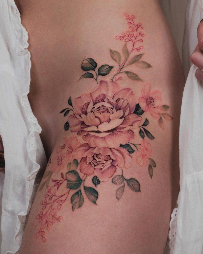 18 3 - Idées de Tatouage Fleur pour Femme (100 photos)
