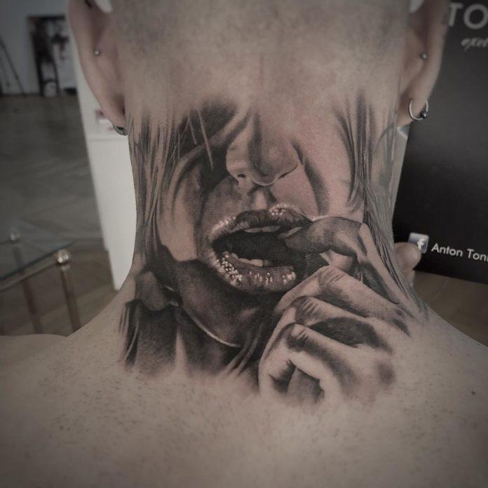18 6 - Tatouage Cou pour Homme (100 photos)